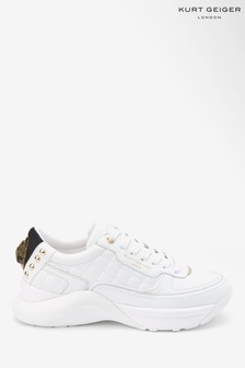 Kurt Geiger London White Lunar Eagle Trainers