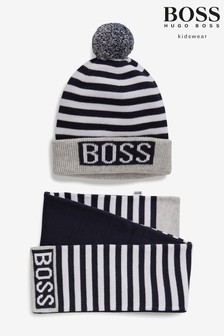 BOSS Hat And Scarf Set