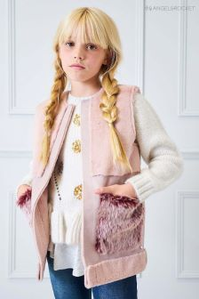 Angel & Rocket Nude Faux Fur Gilet