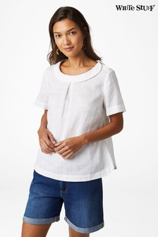 White Stuff White Lily Linen Top
