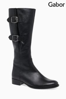 Gabor Black Astoria Leather Boot