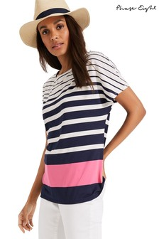 Phase Eight Blue Stacy Stripe Top