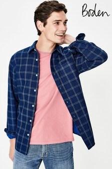 Boden Navy Double Cloth Shirt