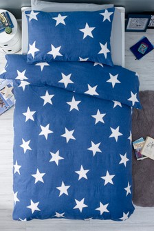 Brushed Star Duvet Cover And Pillowcase Set