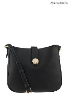 Accessorize Black Bianca Shoulder Bag