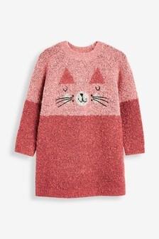 Cat Jumper Dress (3mths-7yrs)