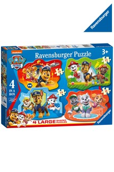 Ravensburger PAW Patrol 4 Large Shaped Jigsaw Puzzles 10,12,14,16pc