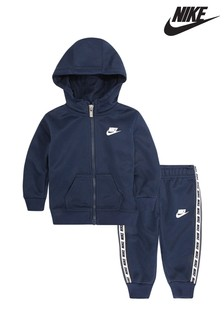 Nike Little Kids Navy Repeat Tracksuit