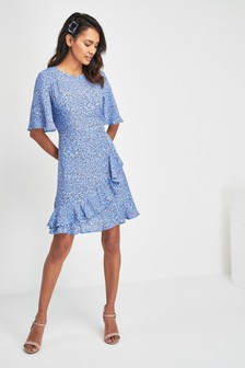 30fb6a1c9b3 Spot Print Frill Dress