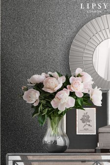 Lipsy Luxe Texture Charcoal Wallpaper
