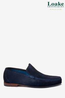 Loake Navy Suede Nicholson Loafer