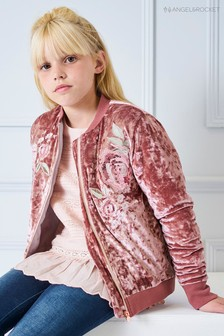 Angel & Rocket Velour Bomber Jacket