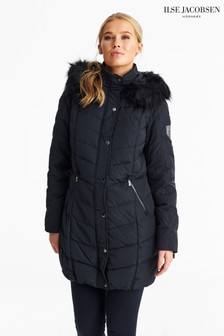 Ilse Jacobsen Black Down Parka Coat