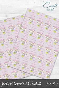 2 Pack Personalised Floral Mother's Day Wrap by Croft Designs