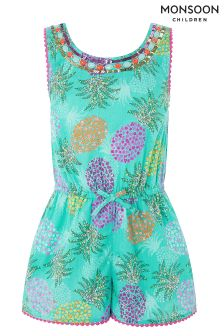 Monsoon Green Piper Playsuit