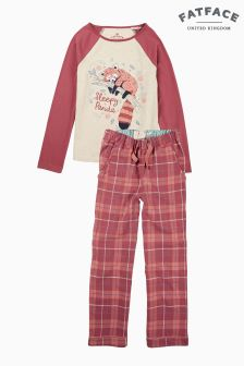 Fatface Purple Penny Red Panda Pyjama Set