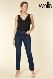 Wallis Blue Petite Straight Leg Jean