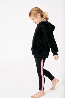 Set van fleece hoody en legging (3-16 jr)