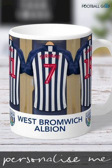 Personalised West Bromwich Albion Dressing Room Mug by Personalised Football Gifts