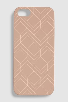Geometric Print Phone Case