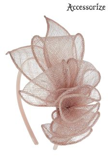 Accessorize Pink Charlotte Metallic Loops Hat