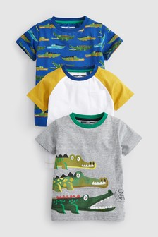 Crocodile T-Shirts Three Pack (3mths-7yrs)
