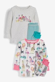 2 Pack Zoo Pyjamas (9mths-8yrs)
