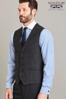 Empire Mills Signature Stripe Suit: Waistcoat