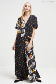 French Connection Blue Floral Shirt Dress