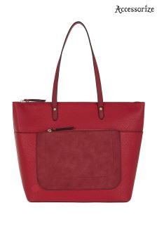 Accessorize Red Emily Tote Bag