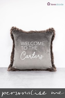Personalised Welcome To The Cushion by Loveabode