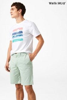 White Stuff Green Banbury Stretch Chino Short