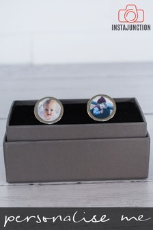 Personalised Photo Upload Cufflinks by Instajunction