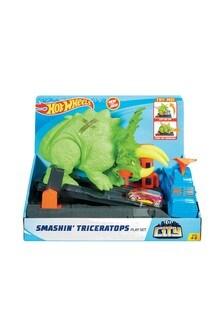 Hot Wheels City Smashin' Triceratops Play Set