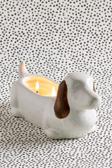 Lemon & Bergamot Ceramic Sausage Dog Candle