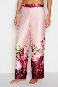 B by Ted Baker Red Serenity Satin Straight Pant