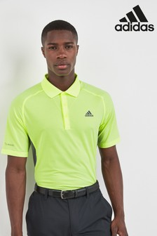 adidas Golf Yellow Ultimate 365 Clima Cool Polo