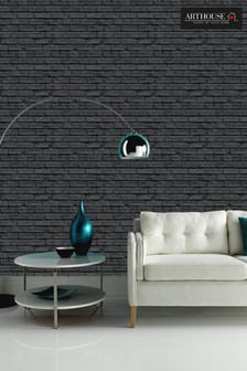 Black Brick Wallpaper by Arthouse