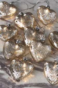 10 Glass Heart Line Lights