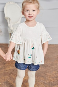 Animal Embroidered Top (3mths-7yrs)