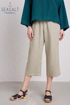 Seasalt Natural Lunar Light Crop Trouser