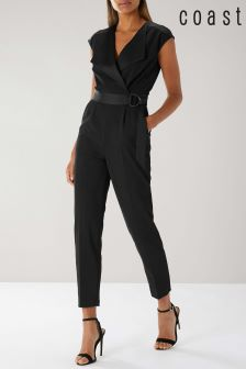 Coast Black Carlo Tux Jumpsuit