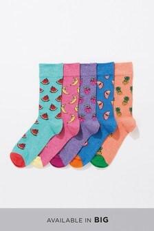 Grindle Fruit Pattern Socks Five Pack