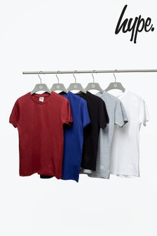 Hype. Black Core Multi-Colour Five Pack Kids T-Shirt