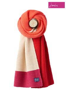 Joules Deep Fuchsia Oversized Knitted Scarf