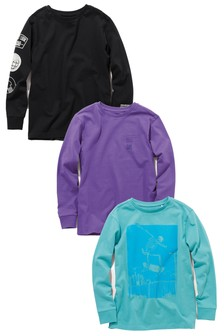 Printed Tops Three Pack (3-16yrs)