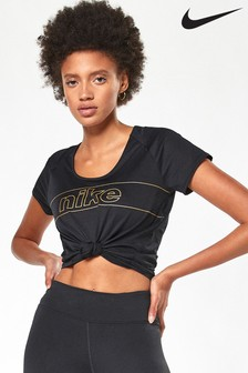 Nike Glam Black 10K Running T-Shirt