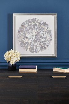 Large Diamond Framed Canvas