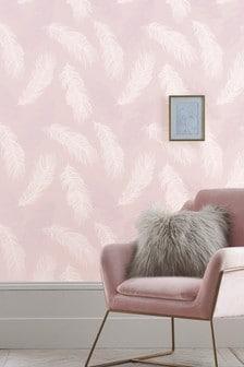 טפט של Paste The Wall דגם Blush Feather