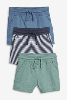מארז שלושה מכנסיים קצרים (3 חודשים-7 שנים)